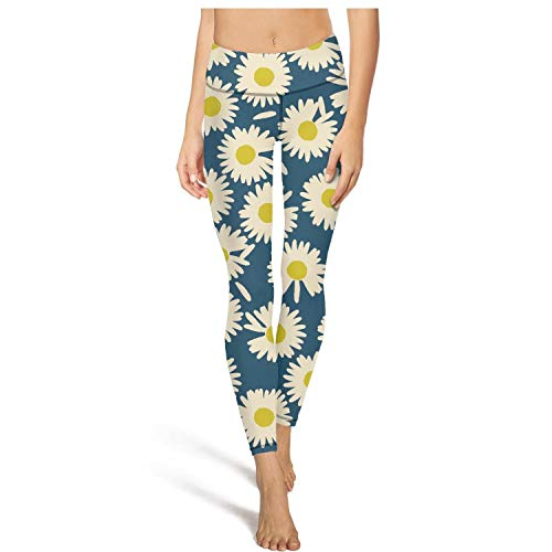 Soft Leggings for Women Vintage Daisy Floral Training Womens Yoga Pants fit Legging