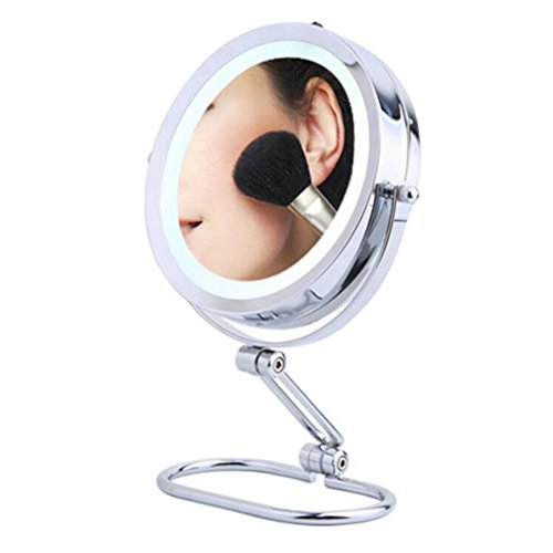 LED Light Makeup Cosmetic Bathroom Mirror 5 Times Magnifiers-7 Inch-A3 by George Jimmy