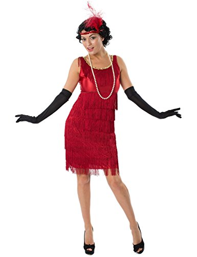 Orion Costumes Womens Red Flapper Dress 1920s Gatsby Charleston Costume Small (Great Gatsby Costumes For Men)