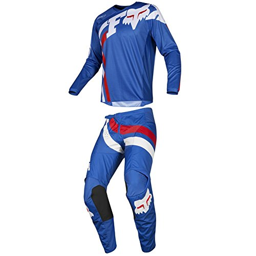 Fox Racing 2019 180 COTA Jersey and Pants Combo Offroad Gear Set Adult Mens Blue Large Jersey/Pants 32W (Mens Dirt Bike Pants 32)