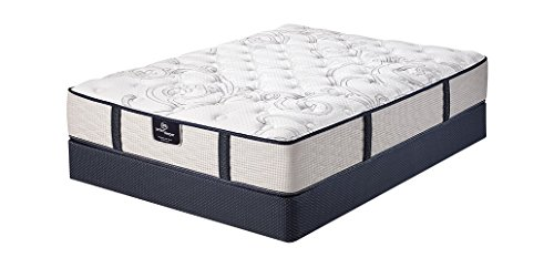 Serta Roswell Plush Low Profile Mattress Set, California King, White (Serta King California)