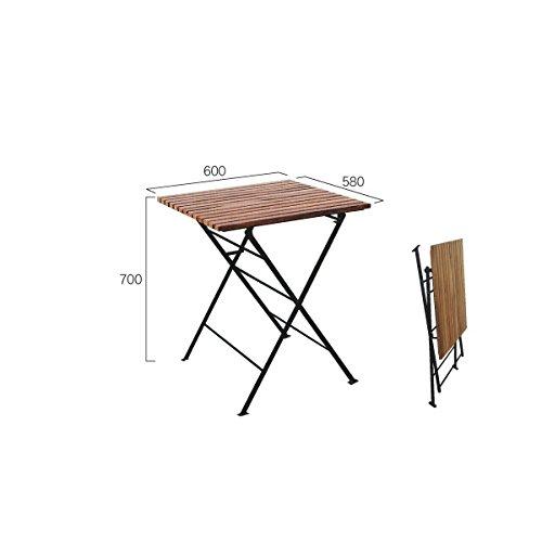 ジャービス商事 折り畳みアイアンチークテーブル 【ガーデンテーブル】 無塗装 B00AE256SA