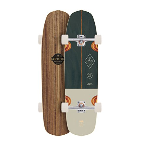 Arbor Hybrid Foundation Complete Skateboard, Nocturnal, 36