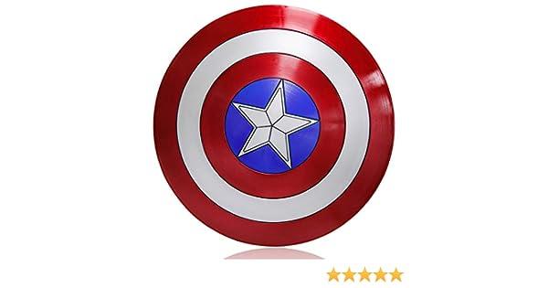 ZYER Capitán América Disfraz de Traje de plástico Adulto Un tamaño América Accesorios para Hombre Cosplay Escudo
