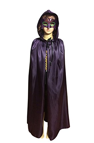 [Satin Silk Halloween Christmas Party Vampire Hooded Cloak Cosplay Dress Cape (53