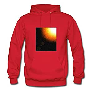 X-large Space Sunlight Printed And Let You Handle It Customized Women Red Hoody