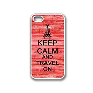 Keep Calm And Travel On Red Wood Blackberry Z10 Case - For Blackberry Z10