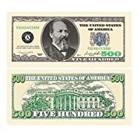 American Art Classics Pack of 100 Bills - $500.00 Five Hundred Dollar Casino Party Money