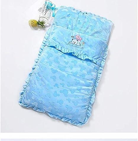 Productos para bebés Otoño e invierno Modelos Espesar bebé saco de dormir de la historieta de bordado para bebé Cochecito Productos para bebés (Color : Blue): Amazon.es: Bebé