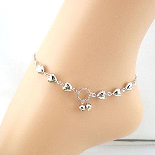 Gbell Heart Cherries Women Ankle Bracelet Barefoot Sandal Beach Foot Jewelry (1PC)
