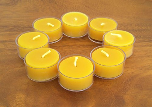Beeswax Tealight Candles ~ set of 8