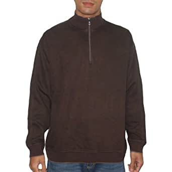 Tommy Bahama Mens Half-Zip Thermal Sweatshirt Large Brown