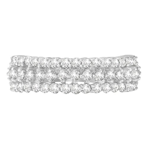 14K White Gold Round-Cut Diamo