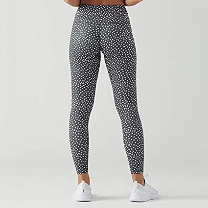 Toraway Women Seamless Dot Print Yoga Sports Tight Pants Hips High Waist Thread Pant Women Exercise Pants