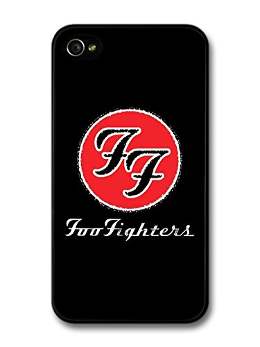 Foo Fighters Red Logo Black Background coque pour iPhone 4 4S
