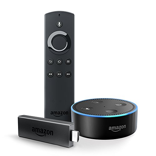 Price comparison product image Fire TV Stick with Alexa Voice Remote + Echo Dot (Black)