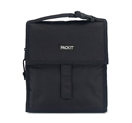 PackIt Freezable Lunch Bag with Zip Closure, Black by PackIt (Image #1)