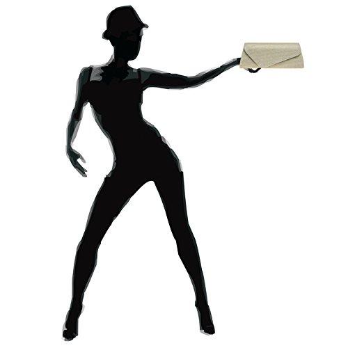 Envelope Glitter Champagne Evening Bag Clutch Ta394 Asymmetrical Ladies Flap elegant Caspar With SqtAx