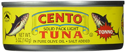 Olive Oil Case (Cento Solid Packed Tuna in Olive Oil, 5-Ounce Cans (Pack of 24))