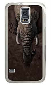 Children's Elephant Face PC Case Cover for Samsung S5 and Samsung Galaxy S5 Transparent