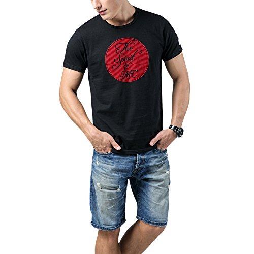 marcucii-black-short-sleeved-round-neck-flocking-pattern-appliqued-tee-shirt-xxl