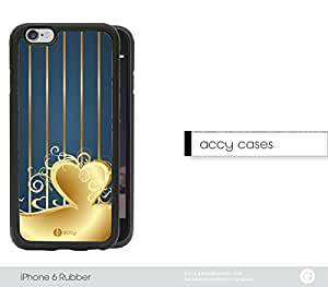 Blue Gold Stripes Heart Energy iPhone 6 Rubber Silicone TPU Cell Phone Case