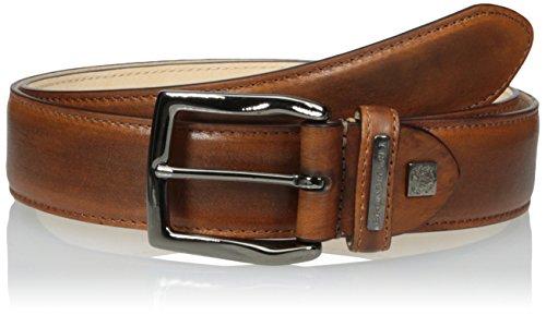 - Bruno Magli Men's Burnished Leather Belt, Cognac, 36