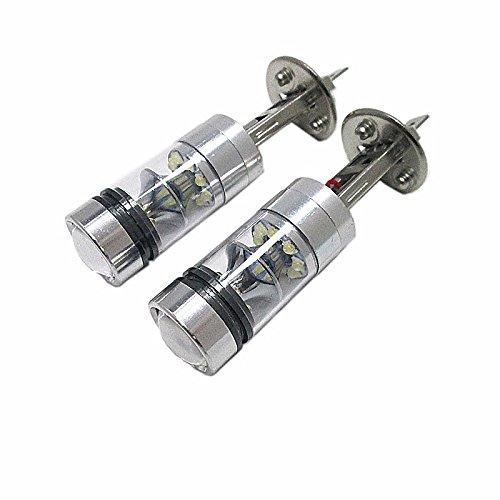 ZGMA 2pcs Light Bulbs 100W High Performance LED 20 Headlamp For Ford Focus 2014//2013//2012 White Spot 2 H1