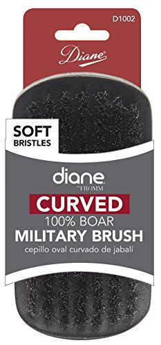Diane Curved 100% Boar Military Brush Soft Bristles D1002