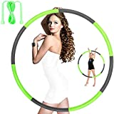 Hoola Hoops for Adults Weight Loss - Weighted Hoola Hoop,Jump Rope Weighted Exercise Hoola Hoops for Kids,Hoola Hoops Bulk,Professional Soft Fitness Hoola Hoops Skipping Rope - Detachable Design