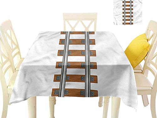 WilliamsDecor Picnic Cloth Train,Ways of Transportation Tracks Dinning Table Covers W 54