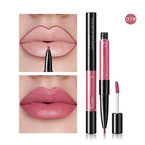 Peacur Lip Gloss Matt Waterproof Lipstick Beauty Makeup Tools Glitter Flip Lipstick Flip Pull Matte Pearl Lip Gloss Clearance (G)
