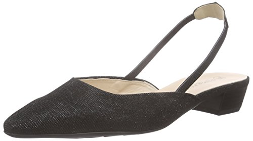 Peter Kaiser Castra Ladies Pumps Slingback Nero (black Shimmer Chevro 974)