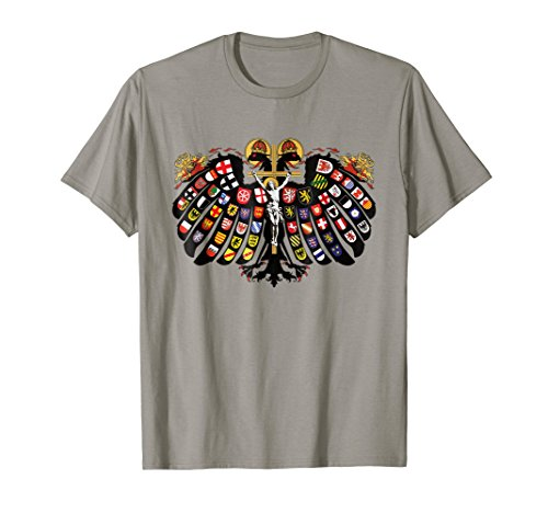 Quaternion Eagle Holy Roman Empire Coat of Arms T-Shirt (Romans Coats)