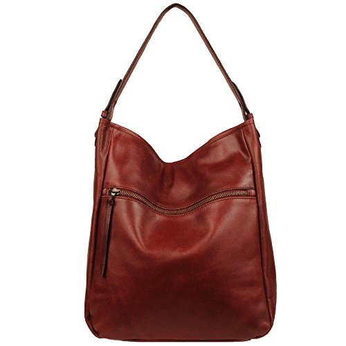 Wilsons Leather Womens Vintage Distressed Leather Hobo (Distressed Hobo Bag)