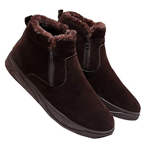Faux Inverno e Miss Caldo Uomo Li Zipper in Stivaletti Fur Stivaletti Casual Marrone Outdoor velluto stivaletti Snow REwR1Y