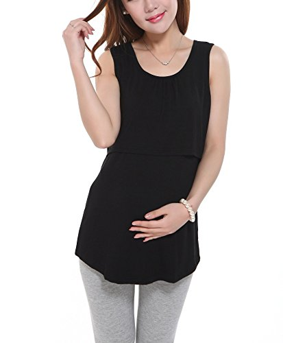 e18873fe2731d Bold N Elegant Women s Cotton Sleeveless Pregnant Maternity Nursing  Breastfeeding Vest Tank Top (One Size