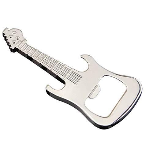 - Guitar Shaped Musical Instrument Keychain Corkscrew Bottle Opener Metal Key Holder Rings Handbag Decor Accessory