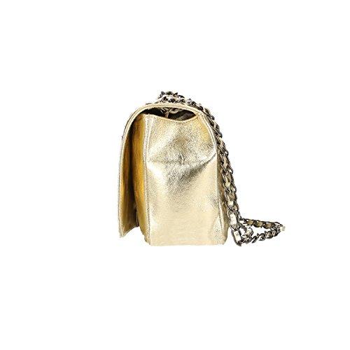 Chicca Borse Piel genuina bolso 28x18x10 Cm Oro