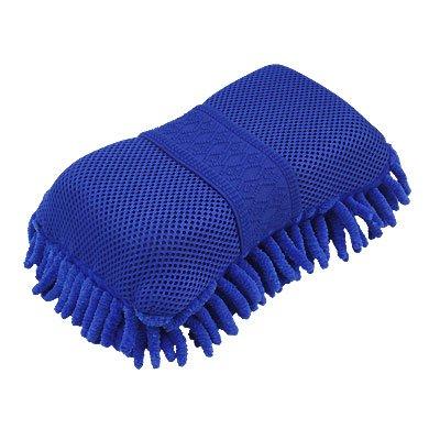 sourcingmap Coche De un solo lado Limpiador Lavar Microfibra Esponja Pad Azul