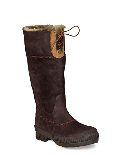 Dierentuin Avontuur - Beaudine - Waterdichte Outdoor Laarzen En Winter Laarzen Van Leer Voor Dames Coffee Brown 022