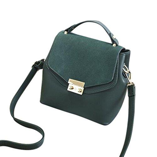 Baymate Mujer Casual Bolso de las Mujeres del Hombro del bolso Cross Body Bag Verde