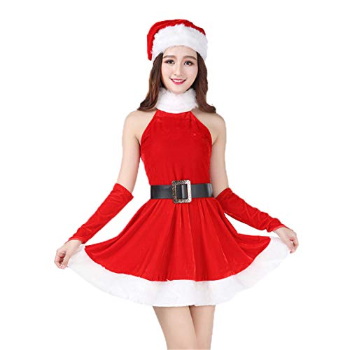 2018 Women's Santa Clause Suit Christmas Costumes for Adult Sexy(Santa Clause Suit) ()