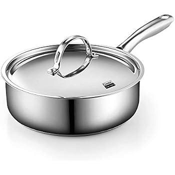 Amazon Com Belgique Hard Anodized 5 Qt Saut 233 Pan With