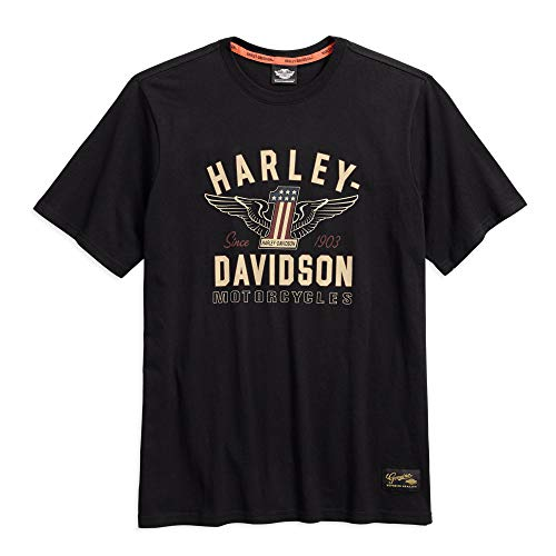 - Harley-Davidson Official Men's #1 Genuine Classics Graphic Tee, Black