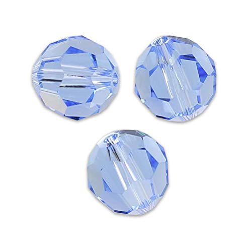 100pcs 8mm Adabele Austrian Round Crystal Beads Light Sapphire Compatible with 5000 Swarovski Crystals Preciosa SS2R-814