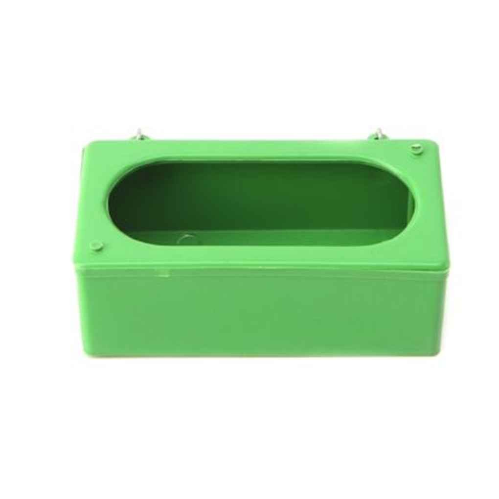 GOTTING Pet Bird Plastic Green Food Water Bowl Cups Parrot Poultry Pigeons Cage Coop Cup Feeder Feeding S/M/L L