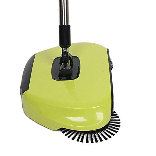 Escoba de mano con cepillos giratorios, automática, sin electricidad, 360º: Amazon.es: Hogar