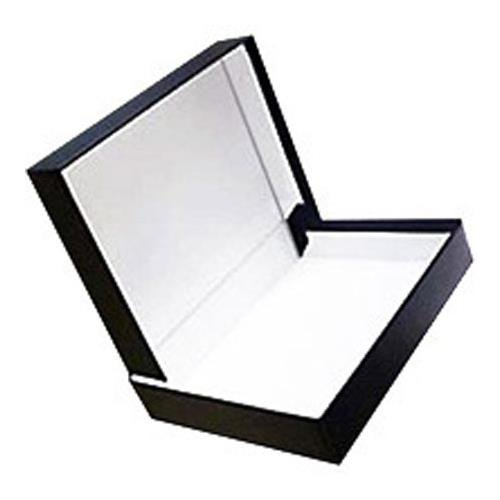 Presentation Clamshell Box - Prat Century Storage Box, One-Piece Clamshell Construction with Fabric Cover, Lined with Acid-Free White Paper, 12 X 9 X 1 inches, Black (1096)