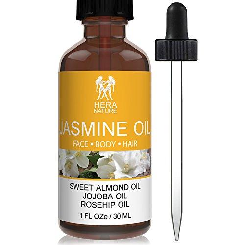 Jasmine Essential Oil, 100% Pure & Natural, in Sweet Almond, Jojoba & Rosehip Oils - Therapeutic Grade. 30ml (1oz)